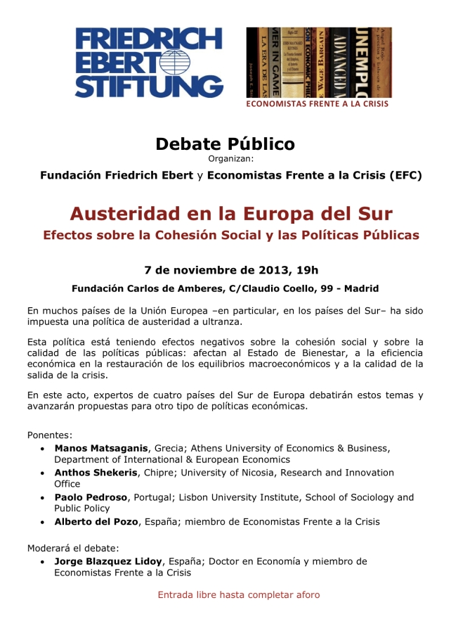 FES Madrid_Economistas_Austerity in_Southern_Europe_